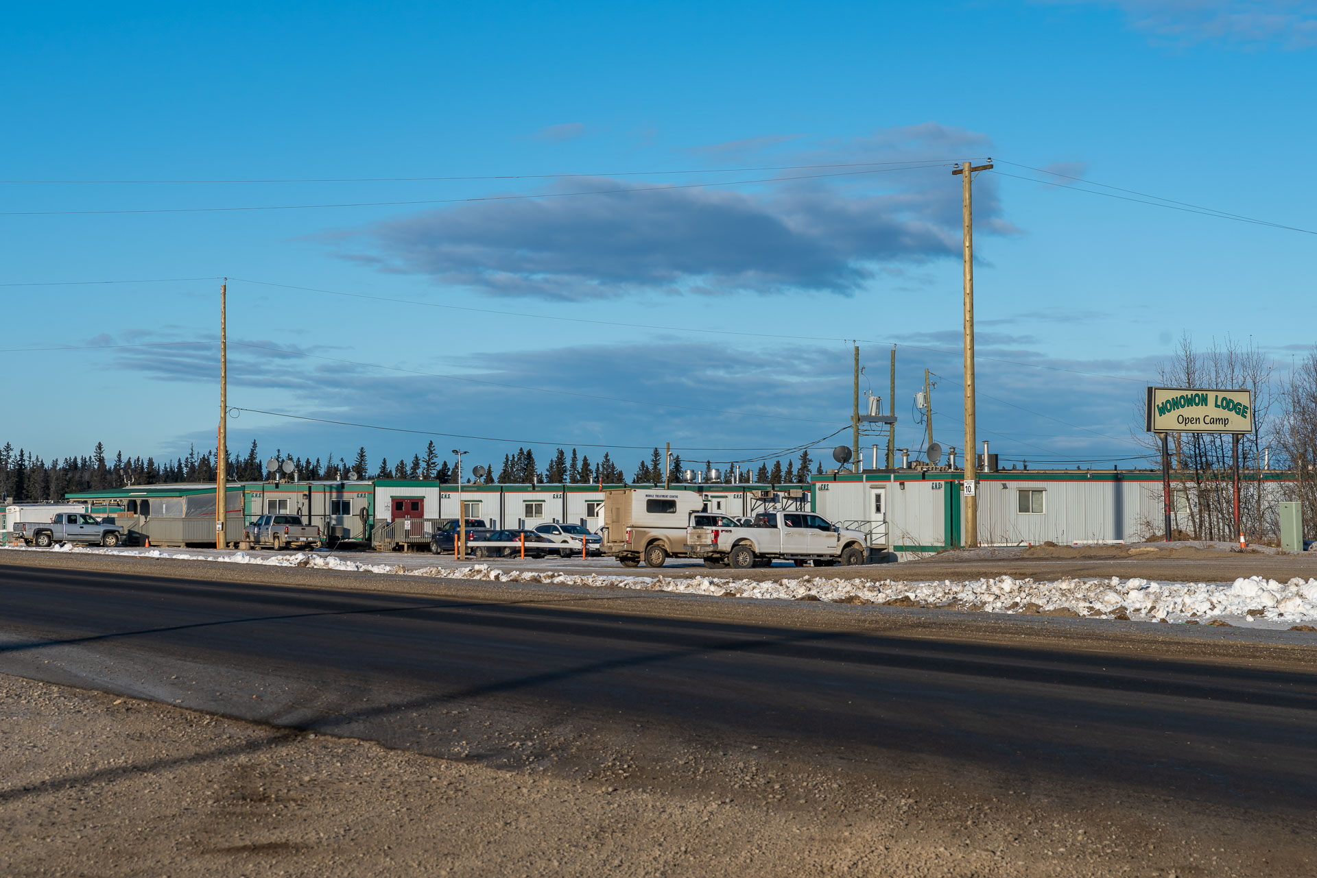 Öl und Gas Camp