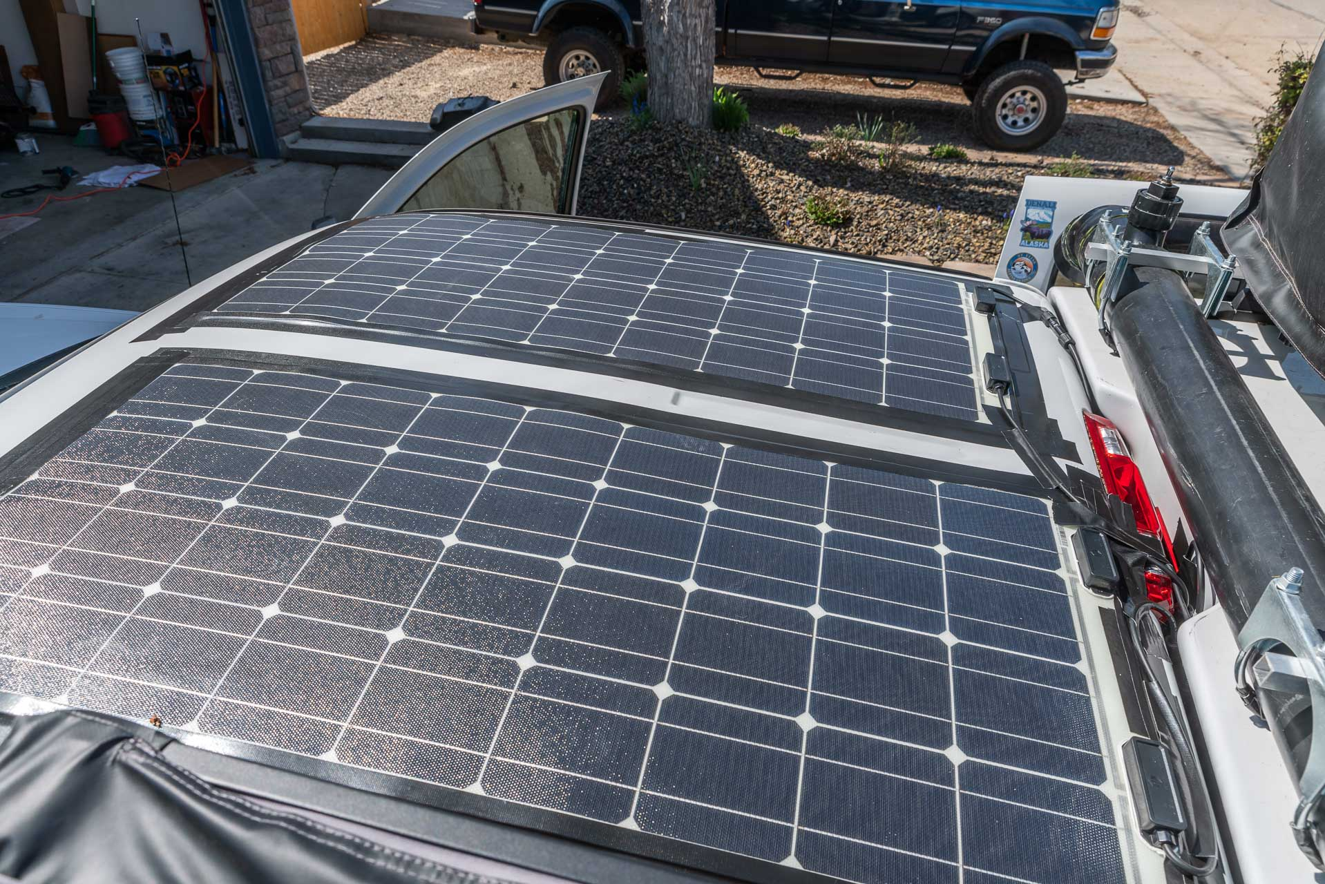 Die neuen Solarpanels sind installiert