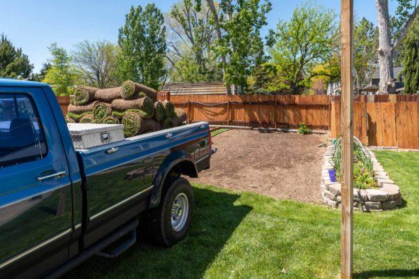 Noch mehr Rasen will verlegt werden