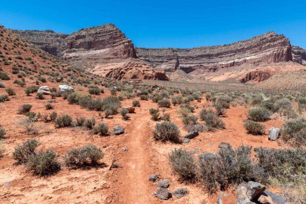 Weg zum Reflection Canyon