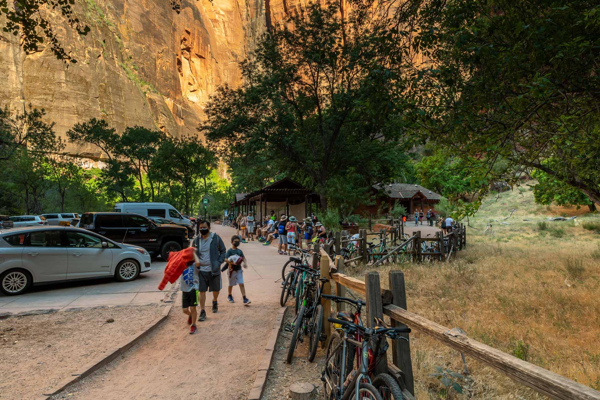 Viele Besucher im Zion Nationalpark
