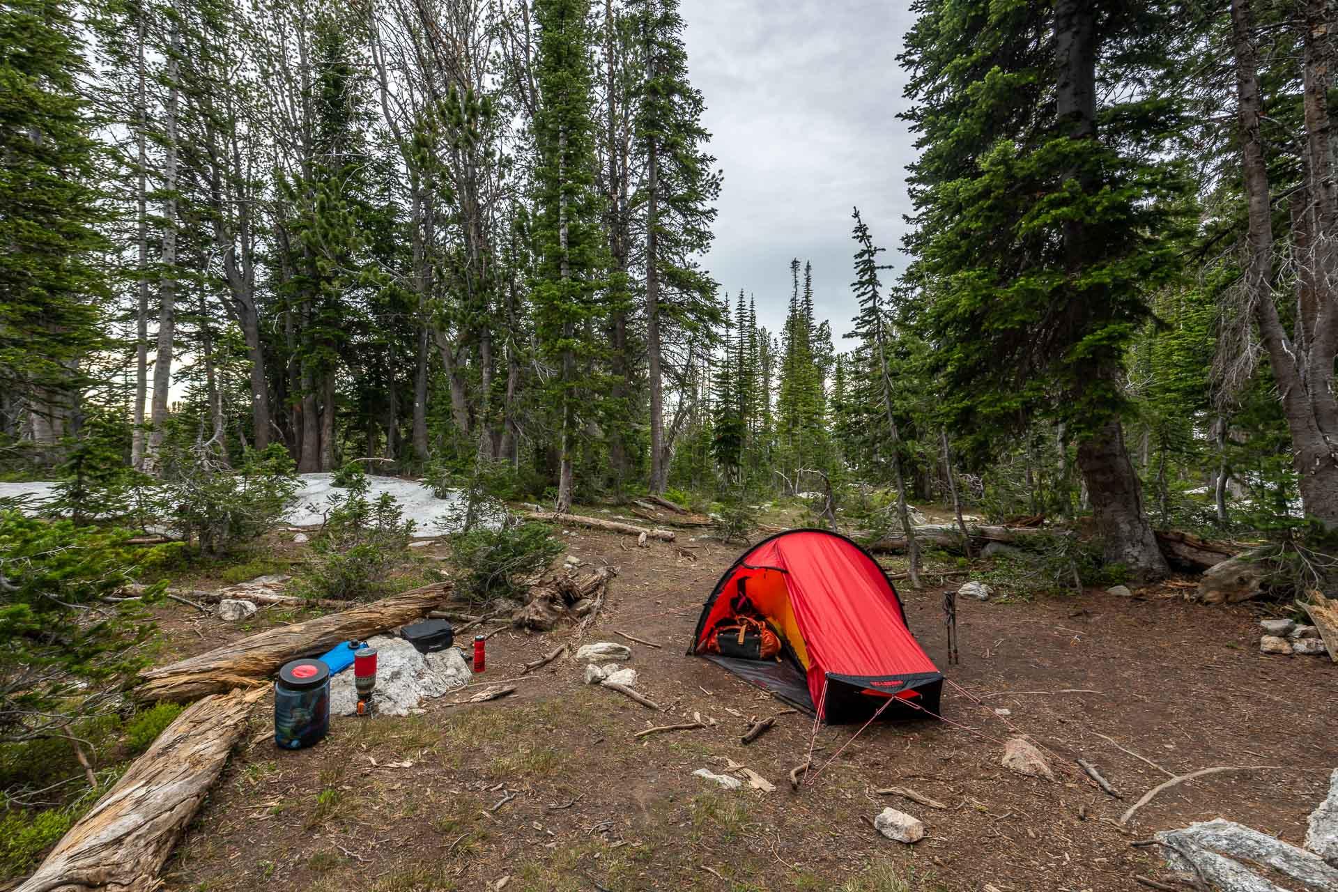 Camping am Surprise Lake