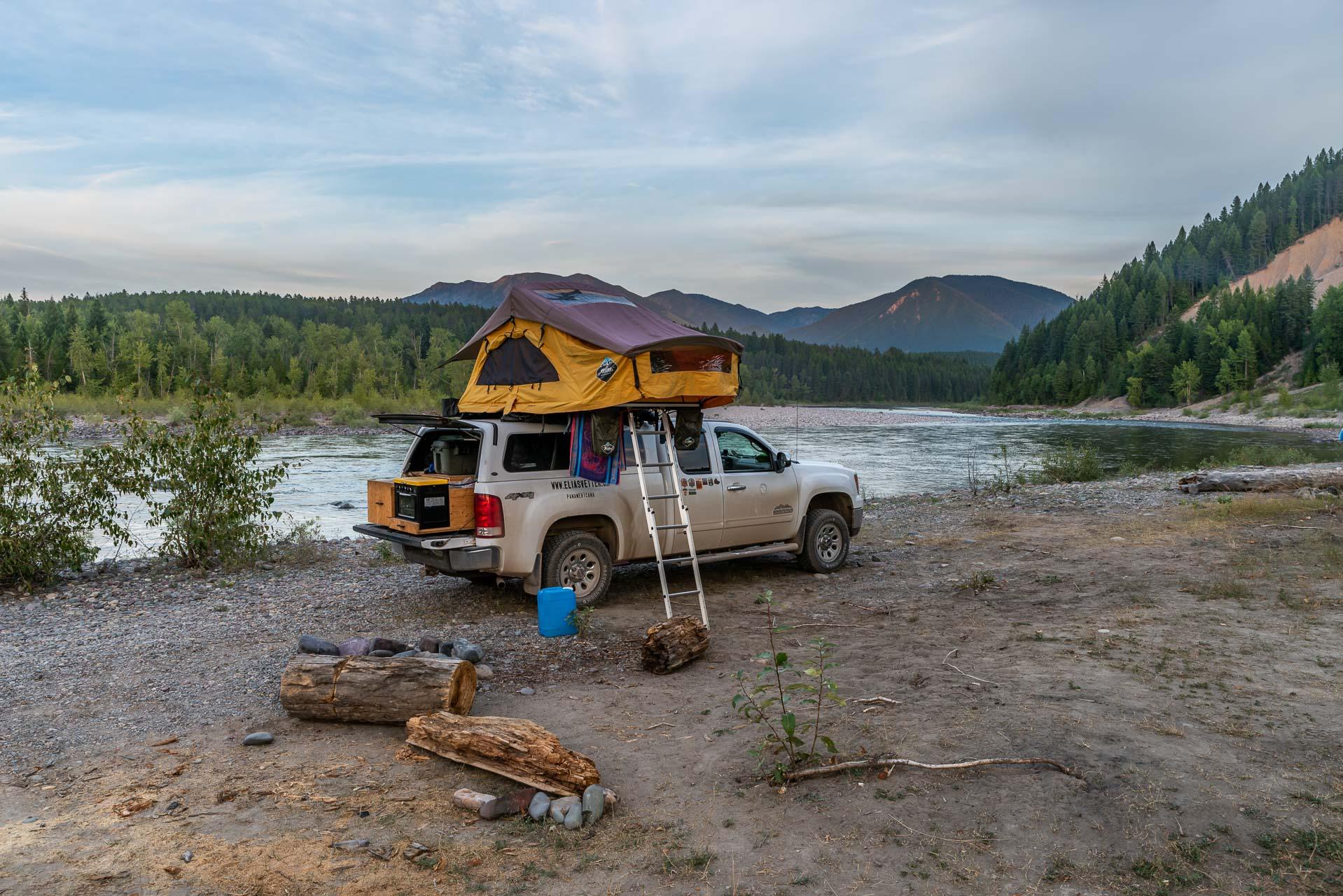 Camp ausserhalb vom Glacier Nationalpark