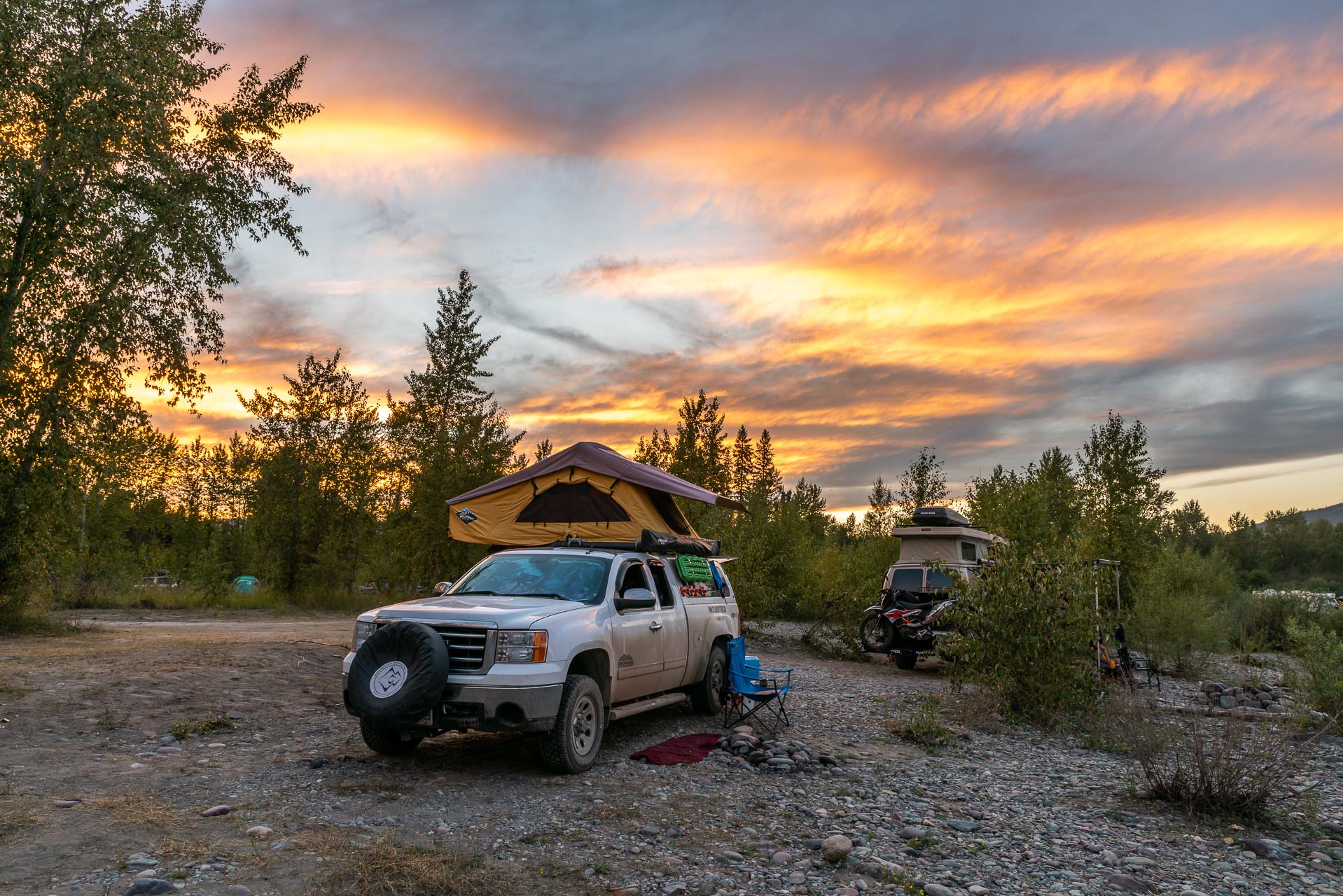 Camp am Middle Fork Flathead River